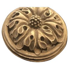 Four Inch Molded box with Leaf DecoratedLid