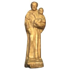 Tiny one inch Saint Francis