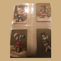 Four Amazing Gold Ephemera Cards