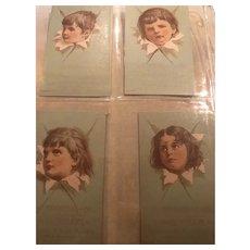 Bookseller's Nostalgic Ephemera Cards of Children's Faces