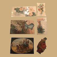 Six Exquisite and Varied Ephemera Cards