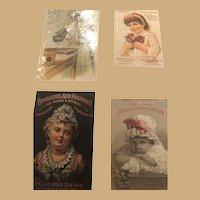 Cooking A Husband, 4 Classic Ephemera Cards