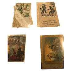 A variety of Four Themed Ephemera Cards from the 19th Century