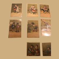 Two by Three inch Ephemera Cards, Children at Play