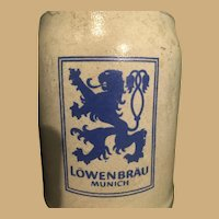 Traditional 0.50 Liter Lowenbrau Munich Beer Stein