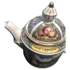 Small, colorful David Copperfield Teapot