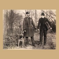 Vintage Photograph of Police, Police Dog  and Detective