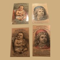 Four Interesting Matching Examples of Horseford's Ephemera Cards