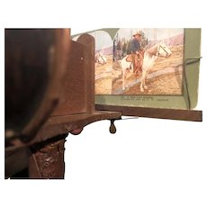 Stereoscope and over 75 Antique Cards With American Travel Scenes