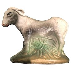 Small Three Inch by Three Inch Nativity Scene Plaster Donkey