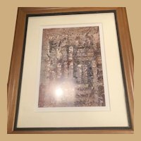 "18"" x 15"" Dianne T Rockwell Signed Print with Matte and Frame"