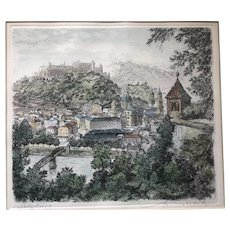 12 x 14 inch Print of Salzburg, Austra, signed in pencil