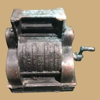 Two by Two Inch Miniature Copper Cash Register