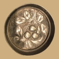 Pretty Four Inch Diameter Heavy Metal Mold with Fruit leaves
