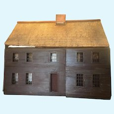1910 New England, Three Story, All Wooden Antique Dollhouse