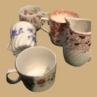 Collection of Five Miniature Fine China Pieces