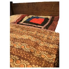 Antique Hand Sewn Doll Quilt with Reversible Lining