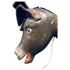 The Classic Schoenhut Eight Inch Circus Donkey
