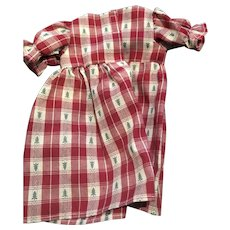 Sweet Red and Green Christmas Tree Plaid Dress for large 16 inch doll