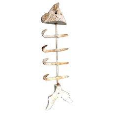Twelve inch Coat or Accessories Hooks in Metal Fish Shape