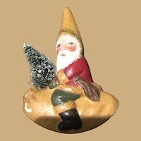 Three Inch Riding Plaster Santa from Period Chocolate Molds