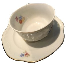 Small Sweet Three Inch Tea Cup and Saucer
