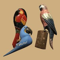 Three Colorful and Whimsical Parrot Items