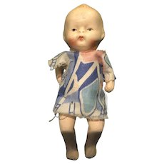 Three Inch Made in Japan All Jointed Baby Doll