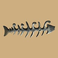 Ten Inch Black Iron Fish Rack for the Cottage