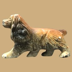 Small Two inch composite Brown Cocker Spaniel