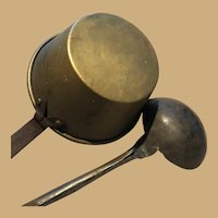 Two Brass, Wood and Iron Early Cooking Tools