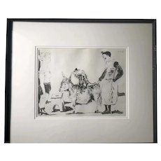 Pablo Picasso Print, Circus, Hand SIGNED by the Artist(10.1.54)