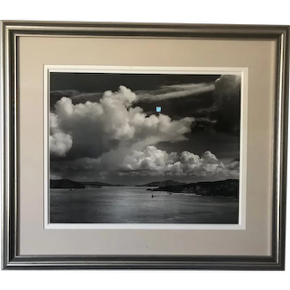 Black and White Photograph of the Hudson River (Large Format Camera)
