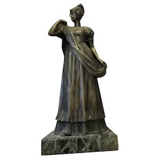 19th century Viennese Bronze Sculpture of a Girl - Romantic (NeoClassical)