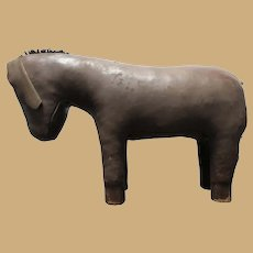 Hand-Sewn Leather Donkey Footstool - Large, Rideable, and Spectacular