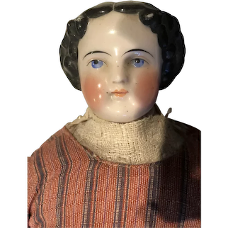 "22"" 19th Century China Doll - Spectacular"