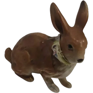 Brown Pottery Bunny - 20th Century