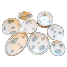 French Table Service for Children in Porcelain Transferware 46 pieces