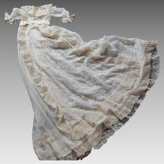Magnificent French Christening Gown of Museum Quality
