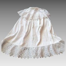 Beautiful French Cotton Pique Christening Cape for Baby Boy...or Girl