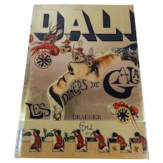 Rare French Dali Cookbook 'Les Diners de Gala' 1973 Draeger  French Edition