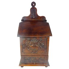 Provencal French Antique Salt Box, 'Fariniere',