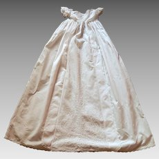 Antique Ayrshire Christening Gown Handmade and Hand Embroidered Heirloom Quality c.1830/40