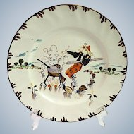 French Plate with Food Theme by Richard Froment from Parisien series by Creil et Montereau