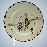 French Vintage Plate with Food Theme by Richard Froment Parisien Creil et Montereau