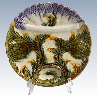 French Antique Asparagus Plate by Luneville-St Clement
