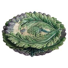 French Asparagus Server in Majolica Rare Model