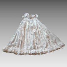 French 'Belle Epoque' Christening Gown with Lots of Ruffles and Embroidery