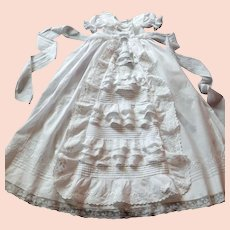 Vintage French Christening Gown... Especially Sweet, Elegant and Richly Embroidered