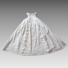 Antique Aryshire Christening Gown..Rare and Exceptional Gown of Highest Quality 1800s